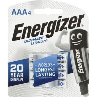 Energizer Lithium Battery AAA - 4 Pack