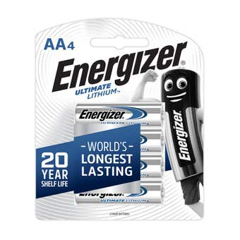 Energizer Battery Lithium AA 4 Pack