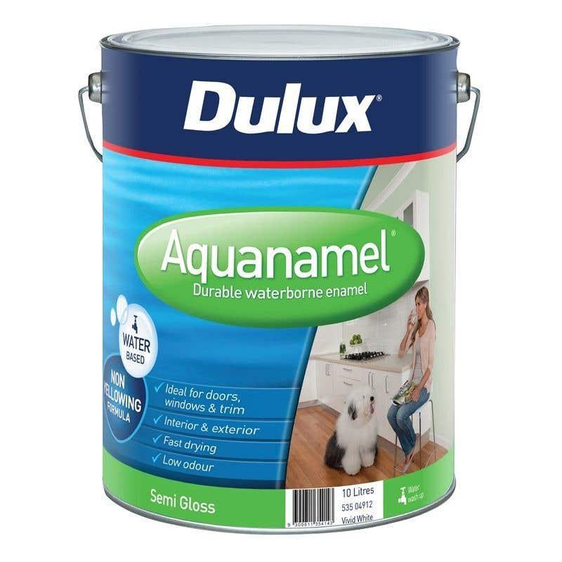 Dulux Aquanamel Semi Gloss Vivid White 10L