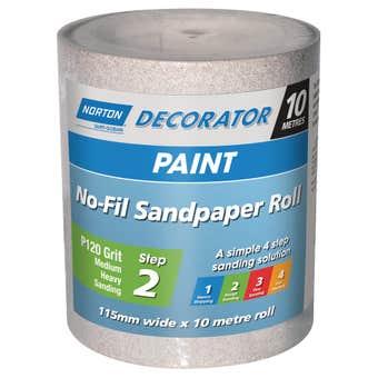 Norton No Fill Sanding Roll P120 Grit 115mm x 10m