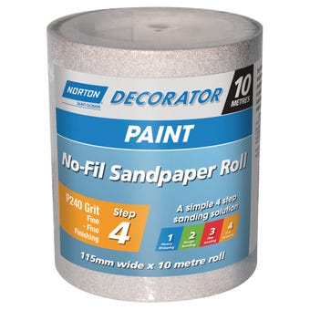 Norton No Fill Sanding Roll P240 Grit 115mm x 10m