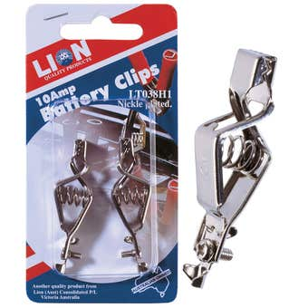 Lion Battery Clips 10A - 2 Piece