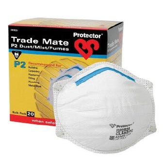 Protector P2 Trademate Disposible Respirator - 20 Pack