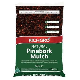 Richgro Natural Pinebark Mulch 40L