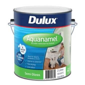 Dulux Aquanamel Semi Gloss Vivid White 2L