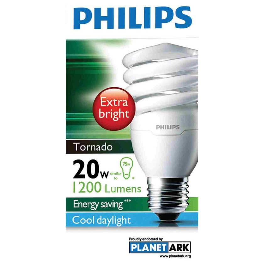 Philips Tornado Globe CFL 20W ES Cool Daylight