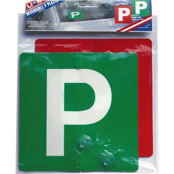 Lion Reversible Green + Red P Plate - 2 Pack