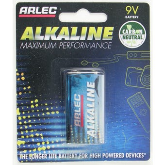 Arlec Alkaline Battery 9V