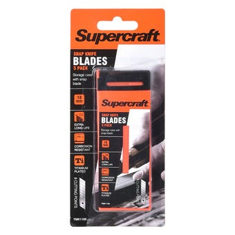 Supercraft Snap Knife Blades 5 Pack 18mm