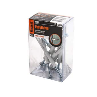 Ramset EasyDrive Nylon Drive Anchor 8 x 75mm - 10 Pack