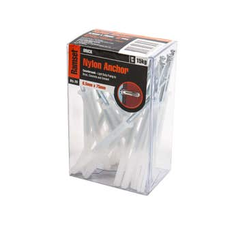 Ramset Nylon Anchor Countersunk 6.5 x 75mm - 20 Pack