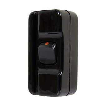 HPM Cordline Switch 10A Double Pole Black