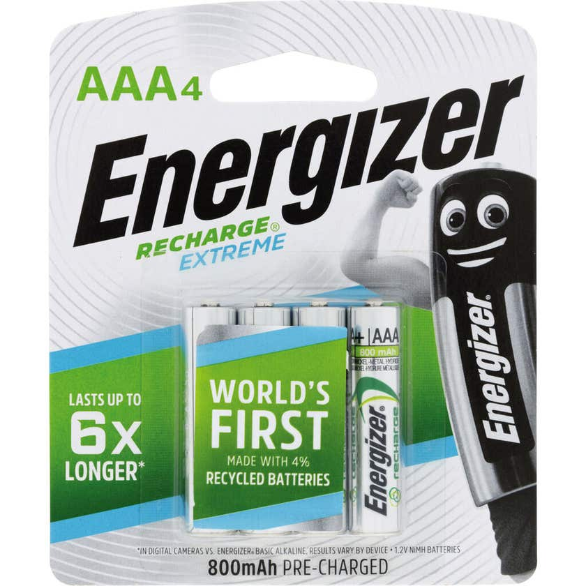 Energizer Rechargeable AAA Battery - 4 Pack