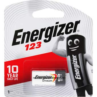 Energizer Battery Lithium Photo 3V 123 1 Pack