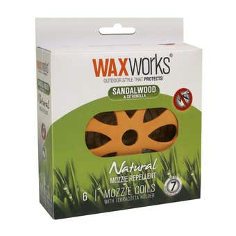 Waxworks Citronella Coil & Terracotta Holder with 6 Coils