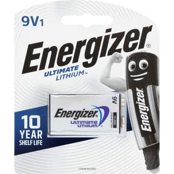 Energizer Lithium Battery 9V - 1 Pack
