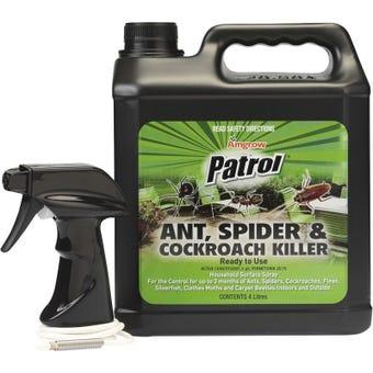 Amgrow Patrol Ant Spider & Cockroach Killer Spray 4L