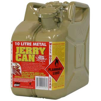 Pro Quip Metal Diesel Jerry Can Olive 10L