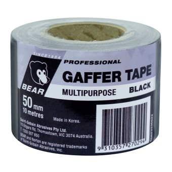 Bear Gaffer Tape Black 50mm x 10m