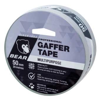Bear Gaffer Tape Silver 50mm x 20m