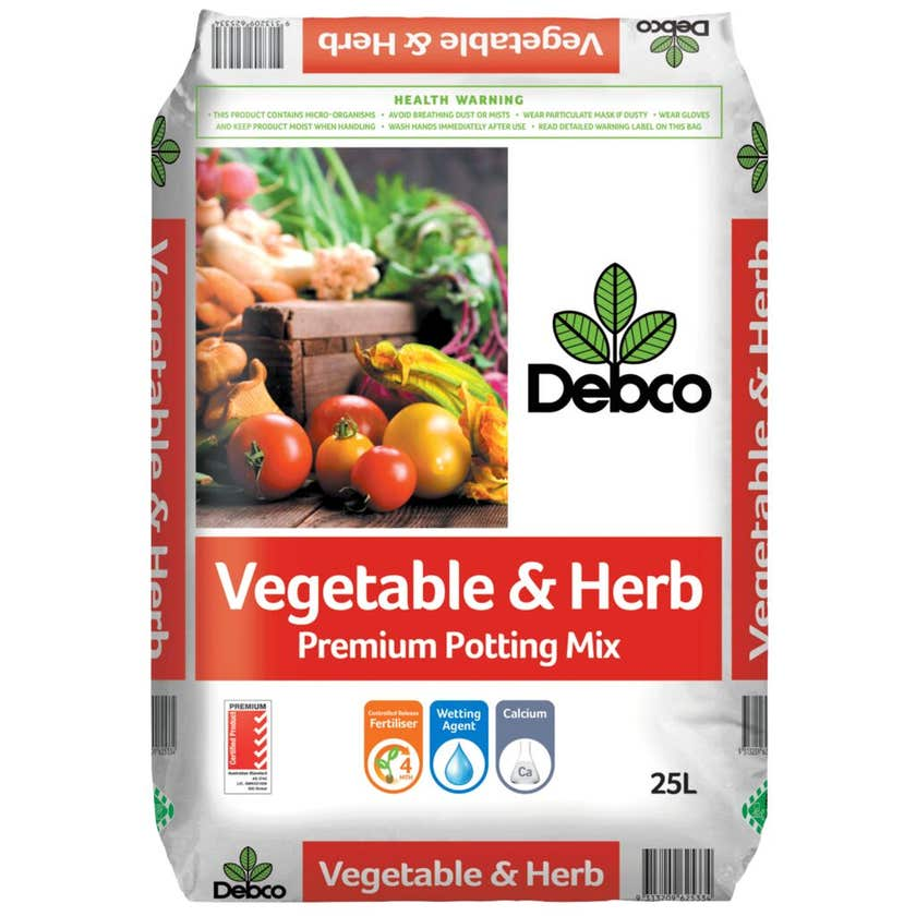Debco Vegetable & Herb Premium Potting Mix 25L