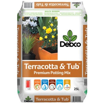 Debco Terracotta & Tub Premium Potting Mix 25L