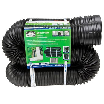 Reln Drain Stretch Solid Pipe 100mm x 8m