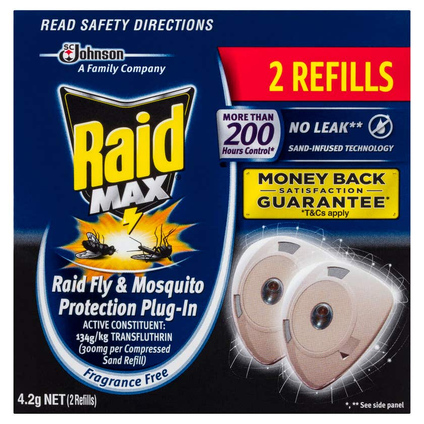 Raid Max Fly & Mosquito Protection Plug-In 4.2g