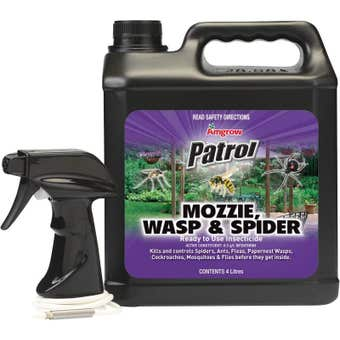 Amgrow Patrol Mosquito Wasp & Spider Insecticide 4L