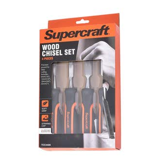 Supercraft Wood Chisel Set - 4 Pack