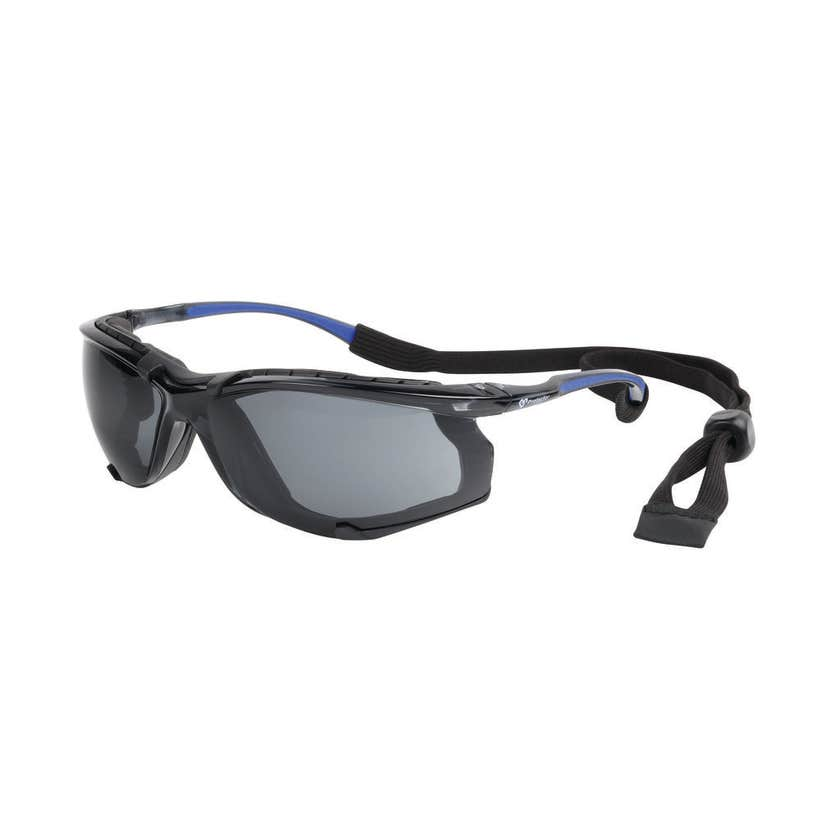 Safety Specs with Strap Smoke