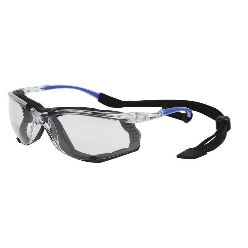 Safety Specs with Strap Clear
