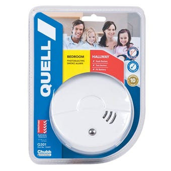 Quell Photoelectric Smoke Alarm for Bedroom & Hallway with Hush/Test