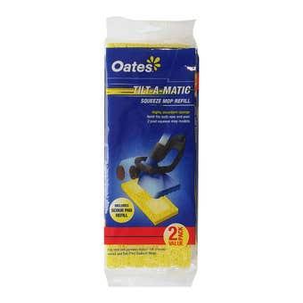 Oates Tilt-A-Matic Squeeze Mop Sponge Refill Twin Pack
