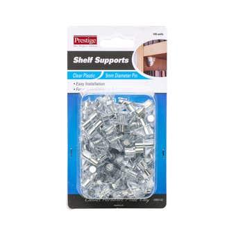 Prestige Plastic Shelf Supports Clear 5mm - 100 Pack