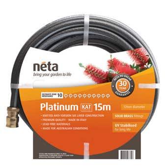 Neta Platinum KAT Fitted Hose 15m x 12mm
