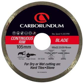 Carborundum Continuous Rim Diamond Blade 105 x 22/20/16mm