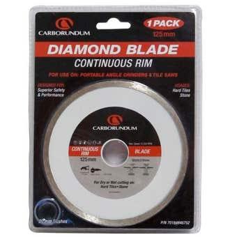 Carborundum Continuous Rim Diamond Blade 125mm