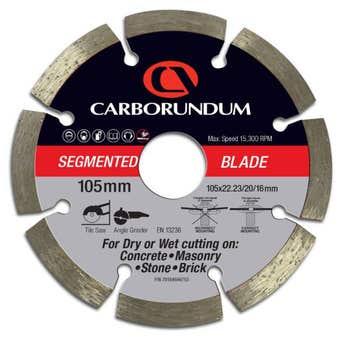 Carborundum Segmented Diamond Blade 105 x 22/20/16mm