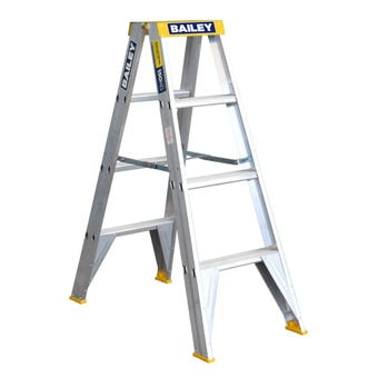 Bailey Pro Double-Sided Ladder 4 Step Industrial 150kg 1.2m