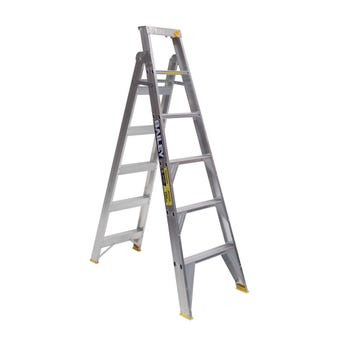Bailey Pro Dual-Purpose 6 Step Ladder Industrial 150kg 1.8M - 3.2M