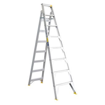 Bailey Pro Dual Purpose Ladder Industrial 150kg 2.4M - 4.4M