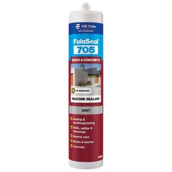 HB Fuller FulaSeal 705 Brick & Concrete Silicone Grey 300g