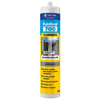 HB Fuller FulaSeal 780 Plumbers Silicone Aluminium 300g