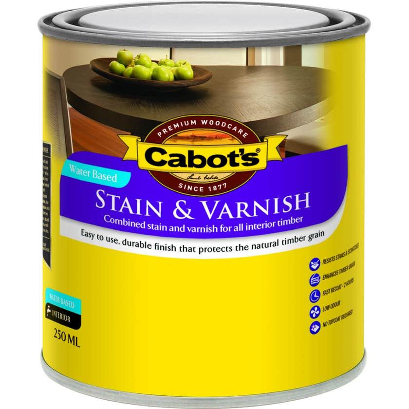Cabot's Stain & Varnish Water Based Walnut Satin 250ml