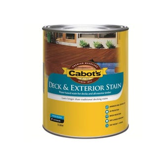 Cabot's Deck & Exterior Stain Water Based Beach House Grey 1L