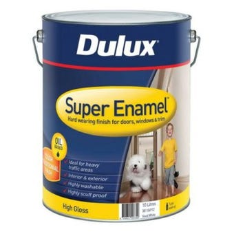 Dulux Super Enamel High Gloss Vivid White 10L