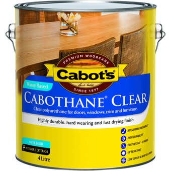 Cabot's Cabothane Water Based Satin Clear 4L