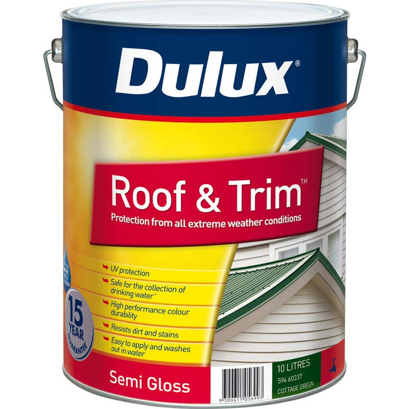Dulux Weathershield Roof And Trim Semi Gloss Cottage Green 10L