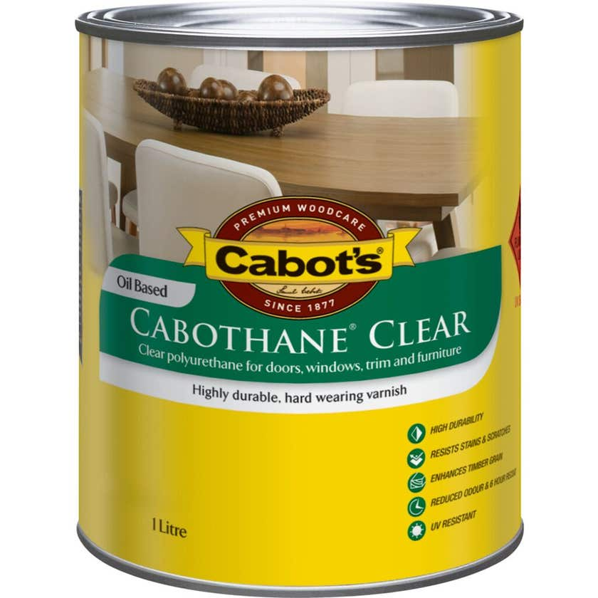 Cabot's Cabothane Oil Based Satin Clear 1L